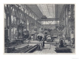Penn's Marine-Engine Factory at Greenwich: The Large Machine-Shop and Turnery Giclee Print