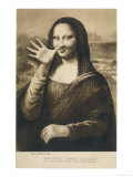 The Mona Lisa Says Goodbye When the Painting is Stolen from the Louvre Paris Giclee Print
