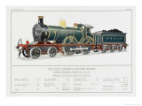 South Eastern and Chatham Railway Express Loco No 735 Giclee Print by W.j. Stokoe