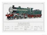 Great Northern Railway Express Loco No 251 Giclee Print by W.j. Stokoe