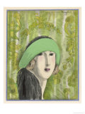 Cloche Hat by Marthe Collot Worn Giclee Print by  Zinoviev