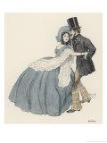 Old Viennese Dancers Giclée-Druck von Ferdinand Von Reznicek