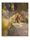 Lancelot is Driven Mad by Guinevere's Anger Giclee Print by Newell Convers Wyeth