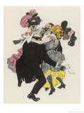 Two Couples at a German Carnival Ball Join Forces Giclée-Druck von Ferdinand Von Reznicek