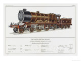 North British Railway Express Loco No 868 Giclee Print by W.j. Stokoe