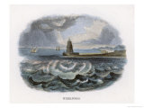 The Whirlpool of Charybdis in the Straits of Messina Italy Giclee Print by J.w. Whimper