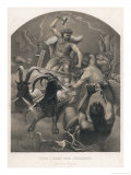 The God Thor Fights the Giants Giclee Print by M.e. Winge