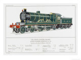 North Eastern Railway Express Loco No 730 Giclee Print by W.j. Stokoe