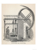 Water-Wheel and Bucket Pump Giclee Print