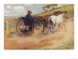 Postman in His Mail-Cart in the Australian Outback Giclee Print by Percy F.s. Spence