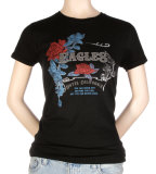 Women's: The Eagles - Vintage w/Foil Rose Crest Camisetas