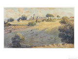 Belmont Park an Australian Station Homestead Giclee Print by Percy F.s. Spence
