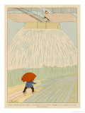 The Flying Machine Will be the Farmer's Friend Enabling Him to Water His Crops in Times of Drought Giclee Print by Joaquin Xaudaro