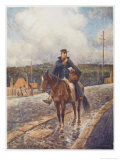 Mounted Postman in the Australian Outback Giclee Print by Percy F.s. Spence