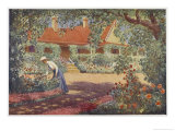 The Garden at Robundara an Early Australian Homestead Giclee Print by Percy F.s. Spence
