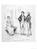 Mr. Darcy Finds Elizabeth Bennet Tolerable Giclee Print by Hugh Thomson