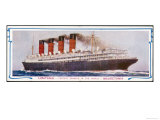 "The ""Lusitania"" and Her Sister-Ship the ""Mauretania"" Cunarders Giclee Print"