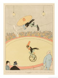 Acrobats Will Turn into Aerobats in the Circus of Tomorrow Giclee Print by Joaquin Xaudaro