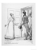 """I Have Not an Instant to Lose"" Says Elizabeth Bennet to Mr. Darcy Giclee Print by Hugh Thomson"
