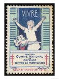 French Postage Stamp Promoting Fresh Air and Sunshine to Fight Tuberculosis Premium Giclee Print