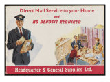 Direct Mail Service to Your Home Premium Giclee Print