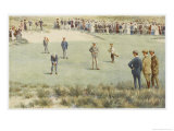 Tense Moment During a Championship Match at the Royal Sydney Golf Club Links Australia Lámina giclée por Percy F.s. Spence
