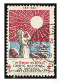 French Postage Stamp Promoting Sunlight to Fight Tuberculosis Giclee Print