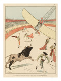 Flying Accident in Spain Can Lead to a Bullfight of a New and Unwelcome Kind Giclee Print by Joaquin Xaudaro