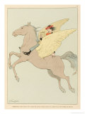 Pegasus in Flight Giclee Print by Joaquin Xaudaro