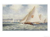 Sailing in Sydney Harbour Australia, The Mosquito Fleet Giclee Print by Percy F.s. Spence