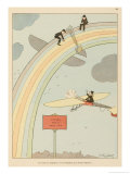 Flying to Rainbow Giclee Print by Joaquin Xaudaro