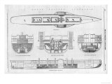 Plans and Cross-Sections of Brunel's Steamship the Great Eastern Premium Giclee Print