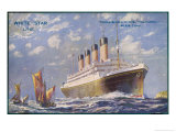 Liner of the White Star Line Giclee Print by Walter Thomas