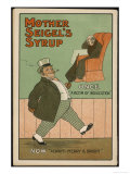 """Once, a Victim of Indigestion: Now, Always Merry and Bright!"", Thanks to Mother Seigel's Syrup Premium Giclee Print"