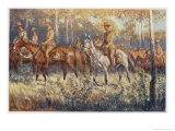 Citizen Soldiers Australia, a Cavalry Force in the Bush Giclee Print by Percy F.s. Spence