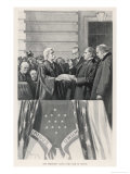 William Mckinley Takes the Oath of Office as 25th President Giclee Print by  Thulstrup