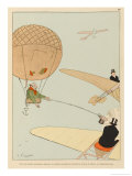 Beggars in Balloons Giclee Print by Joaquin Xaudaro