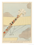 Plans are Afoot to Set up an Aerial Passenger Service Paris, New York Giclee Print by Joaquin Xaudaro