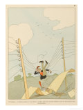 Telephone Cables Can be Very Useful to the Aviator Giclee Print by Joaquin Xaudaro