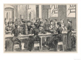 Women Making Creams in the Fry's Chocolate Factory in Bristol Giclee Print