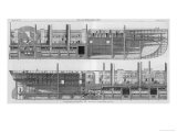 Longitudinal Sections of Brunel's Leviathan Steamship Otherwise Known as the Great Eastern Giclee Print