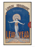 George Robey is the Principal Performer in the Leap Year Show at the London Hippodrome Giclee Print