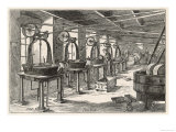 Part of the Chocolate Manufacturing Process: The Pan Room in the Fry's Chocolate Factory in Bristol Giclee Print