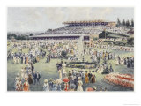 Flemington Race Course on the Day of the Melbourne Cup Giclee Print by Percy F.s. Spence