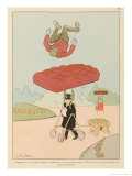 In View of the Frequency of Aviation Crashes Prudent Pedestrians Giclee Print by Joaquin Xaudaro