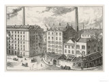 The Outside of the Fry's Chocolate Factory in Bristol Giclee Print