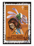 French Postage Stamp Sold in Aid of the Fight Against Tuberculosis Giclee Print