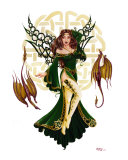 Celtic Faery of Spring Giclee Print by Jayde S. Hilliard