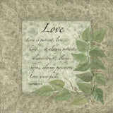 Words to Live By, Love Print by Maria Girardi