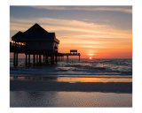 Clearwater Beach Sunset, Florida Photographic Print by George Oze